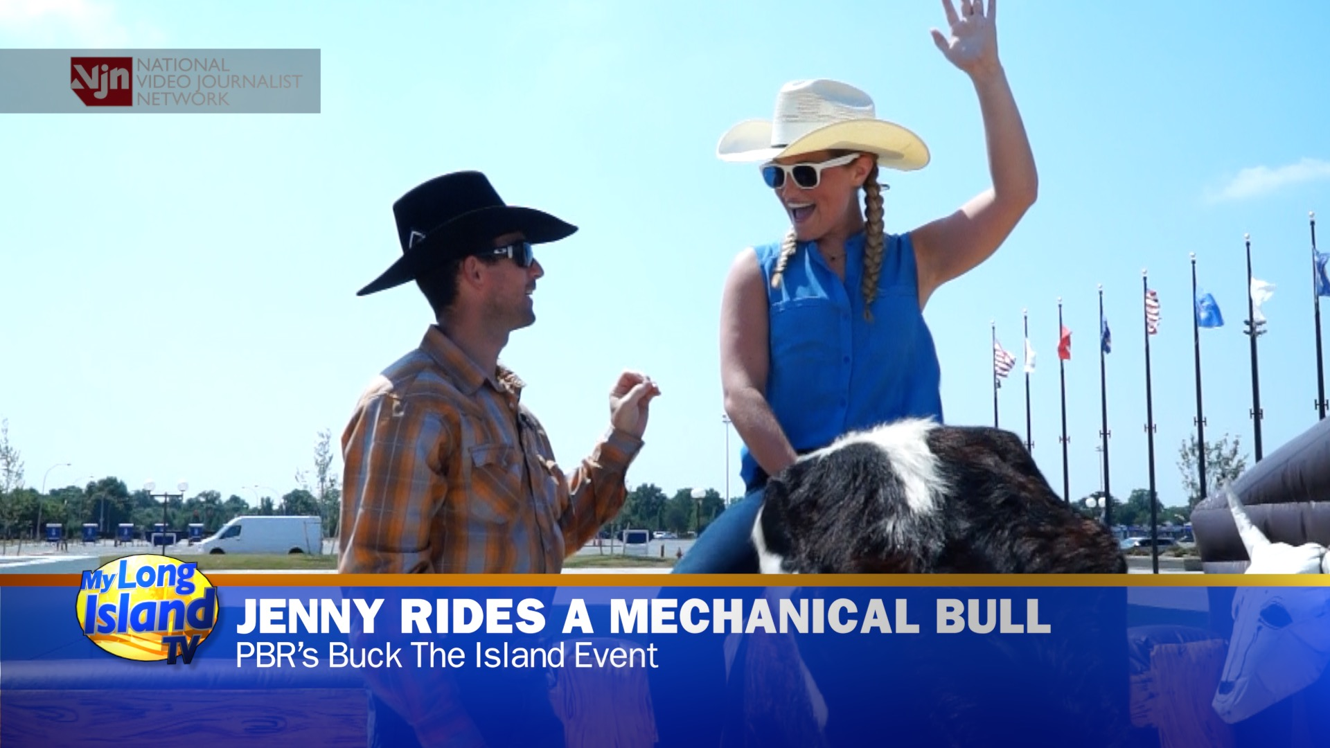 PBR - Professional Riders Show Jenny Shep How to Ride a Bull - Buck Off The Island