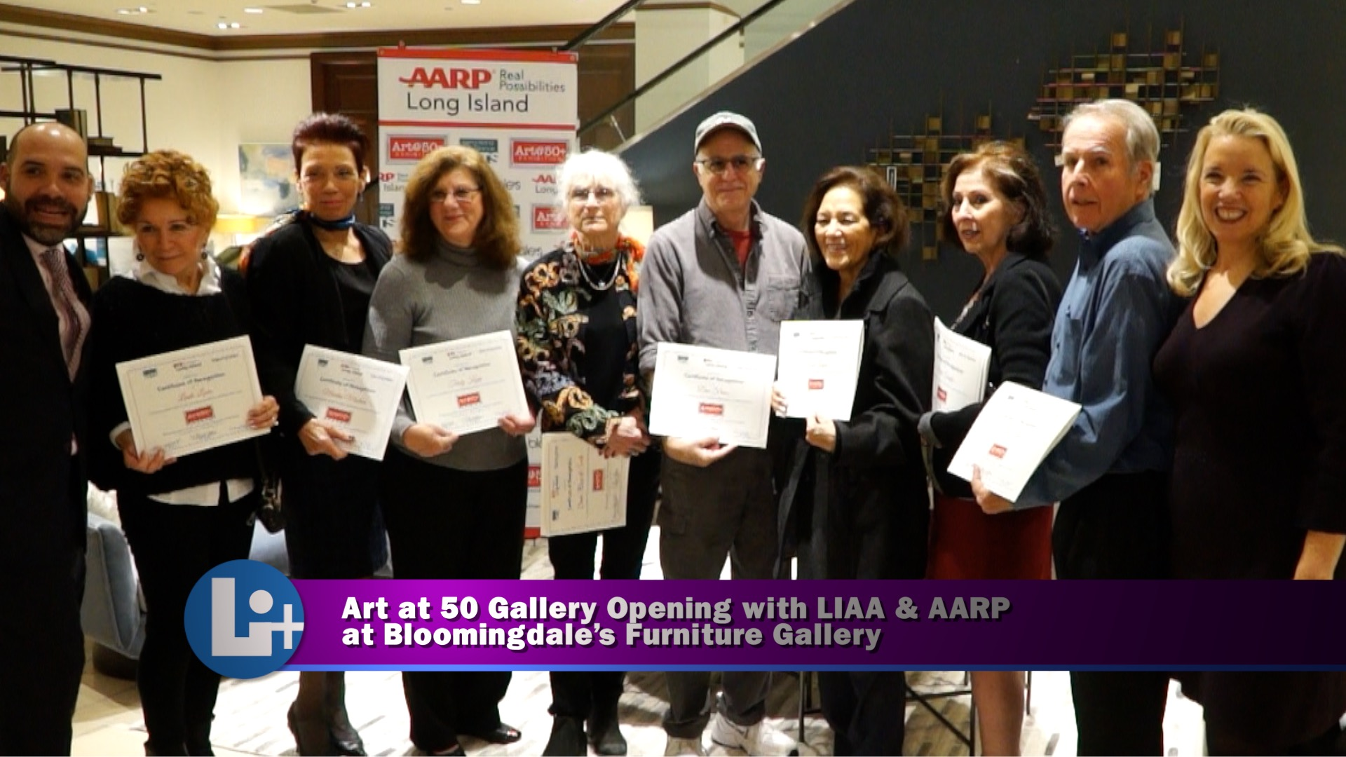 Art At 50 Exhibition with LIAA and AARP at Bloomingdales Furniture Gallery